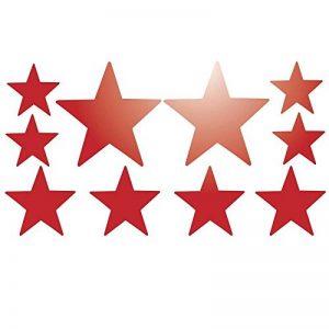 Lot de 10 stickers Etoile adhésifs réfléchissants - Rouge Réfléchissant de la marque Mygoodprice image 0 produit