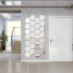 Lot de 12 autocollants muraux en acrylique hexagonaux pour décoration de maison, salon, chambre à coucher, canapé, TV Argenté de la marque Manco Luella image 4 produit