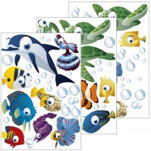 Lot de 75 stickers muraux décoratifs pour chambre d'enfant sur le thème de l'océan de la marque geschenke-fabrik-de image 0 produit