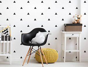 Lot destickers muraux Chambre d'Enfant en Forme de Triangles Noirs de la marque dekodino image 0 produit
