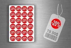 Lot etiquette sticker autocollant promotion soldes magasin promotion - -20% / x 1008 de la marque Générique image 0 produit