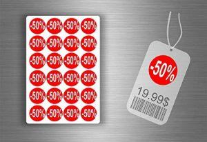 Lot etiquette sticker autocollant promotion soldes magasin promotion - -50% / x 1008 de la marque Générique image 0 produit