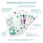 lovely label Stickers muraux pour Chambre Enfant Lot de 33, montgolfière & Animaux - Autocollants pour Chambre de bébé - Décoration Murale Gris & Bleu de la marque lovely-label image 4 produit