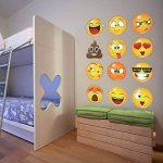 LUCHA Autocollant Mural Sticker Graphique 12 Grands Visages Emoji, Autocollants muraux Smiley Emojis (6 Pouces) de la marque LUCHA image 4 produit