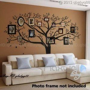 LUCKKYY Stickers muraux Bdecoll - Noirs - avec Cadres Photo pour Motif Arbre de Famille de la marque LUCKKYY image 0 produit