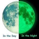 Lune et Étoile Autocollants lumineux, FESKIN Etoiles Fluorescents et phosphorescents dans l'obscurité Wall Sticker Décoration murale Chambre de bébé enfant de la marque Feskin image 1 produit
