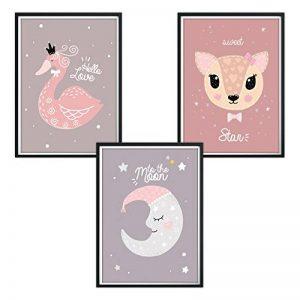 Luvel® - 3x affiches enfants, décorations murales, bébé, enfant Poster (P12) de la marque Luvel image 0 produit