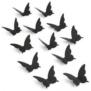 Luxbon Carton 3D Papillon Autocollant Bricolage avec Collant Double-Face Noir 100pcs de la marque Luxbon image 0 produit