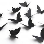 Luxbon Carton 3D Papillon Autocollant Bricolage avec Collant Double-Face Noir 100pcs de la marque Luxbon image 3 produit