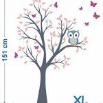 madras24 Sticker Mural pour Enfants Mur pour Un Enfant Jardin d'enfants des La Chambre des Enfants Salon Chambre à Coucher école Décoration Jungle forêt Animaux Arbre hiboux Hibou de la marque madras24 image 3 produit