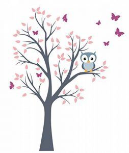 madras24 Sticker Mural pour Enfants Mur pour Un Enfant Jardin d'enfants des La Chambre des Enfants Salon Chambre à Coucher école Décoration Jungle forêt Animaux Arbre hiboux Hibou de la marque madras24 image 0 produit