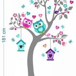 madras24 Sticker Mural pour Enfants Mur pour Un Enfant Jardin d'enfants des La Chambre des Enfants Salon Chambre à Coucher école Décoration Jungle forêt Animaux Arbre hiboux Hibou de la marque madras24 image 4 produit