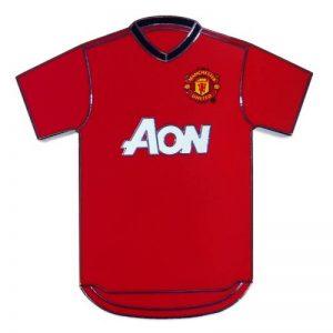Manchester United officiel - Aimant de réfrigérateur thème football - en forme de T-shirt - métal de la marque Manchester-United-F-C image 0 produit