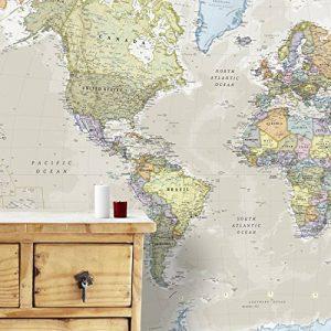 Maps International Carte Géante du Monde pour Mur - Classique - 232 (Largeur) x 158 (Hauteur) cm de la marque Maps-International image 0 produit