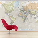 Maps International Carte Géante du Monde pour Mur - Classique - 232 (Largeur) x 158 (Hauteur) cm de la marque Maps-International image 1 produit