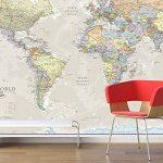 Maps International Carte Géante du Monde pour Mur - Classique - 232 (Largeur) x 158 (Hauteur) cm de la marque Maps-International image 2 produit