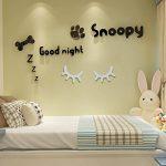 Meerveil 3D Sticker Mural en Bois, Autocollant en Bois, Décoration Chambre d'Enfant Bébé, Ambovile Créatif, en Forme de Cils (Blanc) de la marque Meerveil image 3 produit