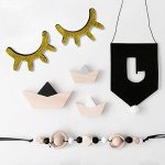 Meerveil 3D Sticker Mural en Bois, Autocollant en Bois, Décoration Chambre d'Enfant Bébé, Ambovile Créatif, en Forme de Cils (Or) de la marque Meerveil image 4 produit