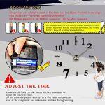 MFEIR® amovible Horloge murale Pendules murales moderne mur Loisirs grosse montre Décoration Stickers Effet Miroir Verre acrylique Décoration,noir de la marque MFEIR image 2 produit