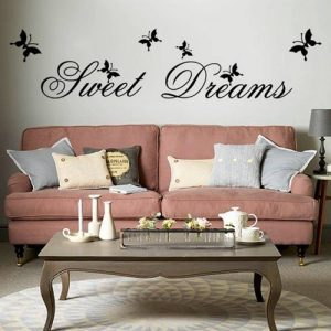 "MFEIR® Stickers Muraux citations Stickers Muraux chambre adulte ""Sweet Dreams"" 25 x 70cm de la marque MFEIR image 0 produit"