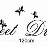 "MFEIR® Stickers Muraux citations Stickers Muraux chambre adulte ""Sweet Dreams"" 25 x 70cm de la marque MFEIR image 4 produit"