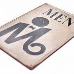 MGJJ Rétro en Relief en métal Tin Signs Bar Pub Home décoratifs plaques Homme Femme Sticker Mural publicitaire Fer Peinture 3020cm 2pcs de la marque MGJJ image 2 produit