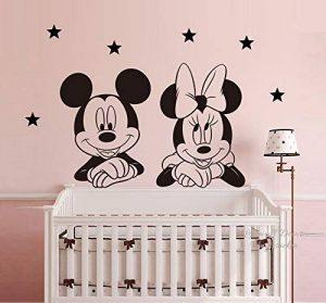 Mickey la souris Minnie Mouse Étoiles Disney Autocollant mural Mural Art Déco Décoration de maison Art mural Décoration Décalcomanies Chambre de bébé de la marque Deco-online image 0 produit