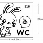 mignon stickers muraux de salle de bain amovible imperméable lapin PVC pour salle d'eau wc toilette décoration drôle maison de la marque AUTULET image 2 produit