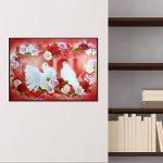 Mikolotuk 5D Peinture au Diamant DIY Salon Chambre Décoration Autocollant Mural Oiseaux et Fleurs 40 * 30 CM de la marque Mikolotuk image 1 produit