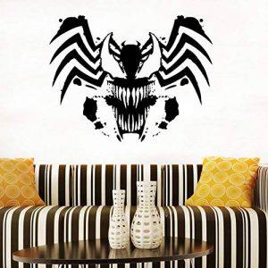 mmwin Venom Logo Sticker Venom Vinyle Autocollant Superhero Comics Affiche Interior Design Salle des Ados Art Décorations Murales45 * 42 Cm de la marque mmwin image 0 produit