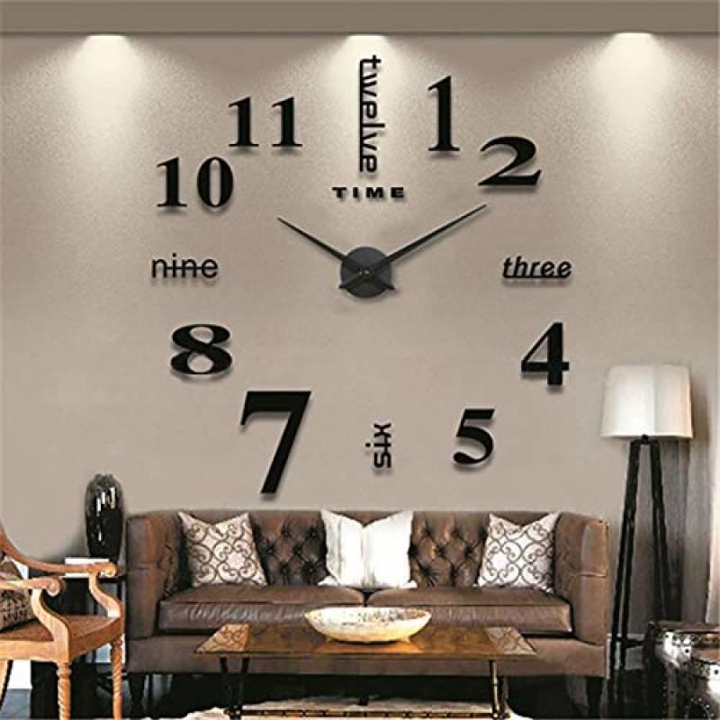 3D À faire soi-même Amovible Horloge Murale Accueil Crystal Miroir Vinyle Art AUTOCOLLANT DECALS DÉCORATION