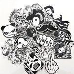 Modou Autocollants [120 pcs], Noir Blanc Graffiti Vinyle Autocollants pour Ordinateur Portable Voitures Moto vélo Skateboard Bagages Pare-Chocs de la marque Modou image 2 produit