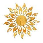 Mondial-Fete - Soleil Moderne 3D Miroir Acrylique doré adhésif (40 x 40 cm) de la marque Mondial-fete image 1 produit