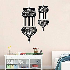 Mondial-Fete - Sticker adhésif 2 Lampes orientales suspendues (57 x 90 cm) de la marque Mondial-fete image 0 produit