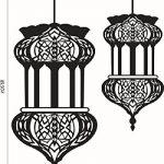Mondial-Fete - Sticker adhésif 2 Lampes orientales suspendues (57 x 90 cm) de la marque Mondial-fete image 1 produit