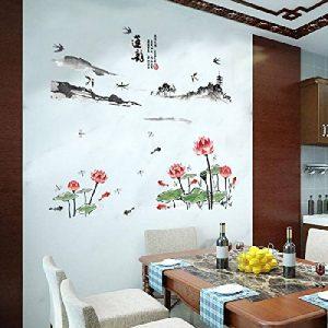 Mondial-Fete - Sticker adhésif Lotus et Ambiance Asiatique (80 x 118 cm) de la marque Mondial-fete image 0 produit