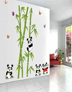 Mondial-Fete - Stickers adhésifs Pandas et bambous (110 x 125 cm) de la marque Mondial-fete image 0 produit