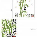 Mondial-Fete - Stickers adhésifs Pandas et bambous (110 x 125 cm) de la marque Mondial-fete image 1 produit