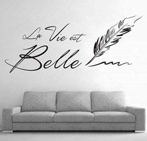 """Mrlwy Lettres""""LA VIE EST BELLE"""" Autocollants Muraux Phrase Française Belle Vie Sticker Mural pour Salon Décor 40x56cm de la marque Mrlwy image 0 produit"""