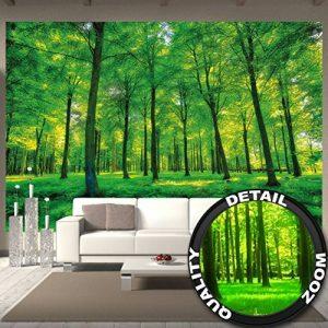 Murale arbres - mur decoration paysage naturel pure plante fleur foret relaxants avec trop de soleil photo mur deco chez GREAT ART (336 x 238 cm) de la marque GREAT-ART image 0 produit