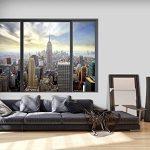 murando 3D ILLUSION D'OPTIQUE 210x150 cm Papier peint intissé tableaux muraux déco vue depuis la fenetre Ville City New York Panorama de la marque 3D ILLUSION D'OPTIQUE image 1 produit
