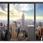 murando 3D ILLUSION D'OPTIQUE 210x150 cm Papier peint intissé tableaux muraux déco vue depuis la fenetre Ville City New York Panorama de la marque 3D ILLUSION D'OPTIQUE image 4 produit