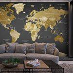 murando Papier peint intissé 300x210 cm Décoration Murale XXL Poster Tableaux Muraux Tapisserie Photo Trompe l'oeil XXL Carte du Monde Continente k-A-0092-a-a de la marque Papier-peint image 2 produit