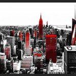 murando Papier peint intissé 350x256 cm Décoration Murale XXL Poster Tableaux Muraux Tapisserie Photo Trompe l'oeil New York rouge gris 10110904-61 de la marque Papier-peint image 1 produit