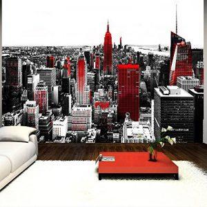 murando Papier peint intissé 350x256 cm Décoration Murale XXL Poster Tableaux Muraux Tapisserie Photo Trompe l'oeil New York rouge gris 10110904-61 de la marque Papier-peint image 0 produit