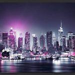 murando – Papier peint intissé 350x256 cm – Papier peint – Trompe l oeil – Tableaux muraux déco XXL – New York City ville NY Manhattan nuit Panorama highrise gratte-ciel d-C-0012-a-d de la marque Papier-peint image 1 produit