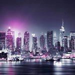 murando – Papier peint intissé 350x256 cm – Papier peint – Trompe l oeil – Tableaux muraux déco XXL – New York City ville NY Manhattan nuit Panorama highrise gratte-ciel d-C-0012-a-d de la marque Papier-peint image 2 produit