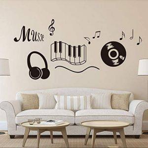 Musique stickers muraux pour les décorations de chambre bricolage pvc stickers enfants cadeau arts muraux 56X49cm CP0528 de la marque HATOLY image 0 produit