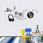 Musique stickers muraux pour les décorations de chambre bricolage pvc stickers enfants cadeau arts muraux 56X49cm CP0528 de la marque HATOLY image 2 produit