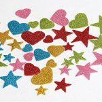 Naler 190 pcs Glitter Mousse Autocollants étoiles Coeur Stickers Auto adhésif Assortiment Autocollant Sticker pour Enfants Enfant DIY Scrapbooking Artisanat Art Décoration de la marque Naler image 4 produit